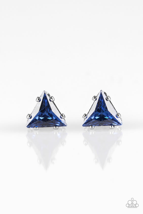 Prismatic Shine - Blue - Post Earrings