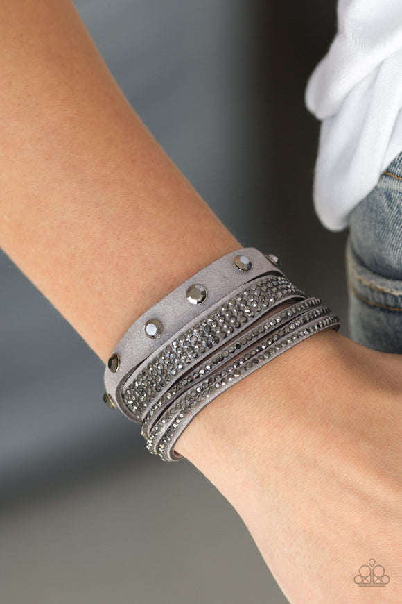 Totally Rockable - Silver - Wrap Bracelet