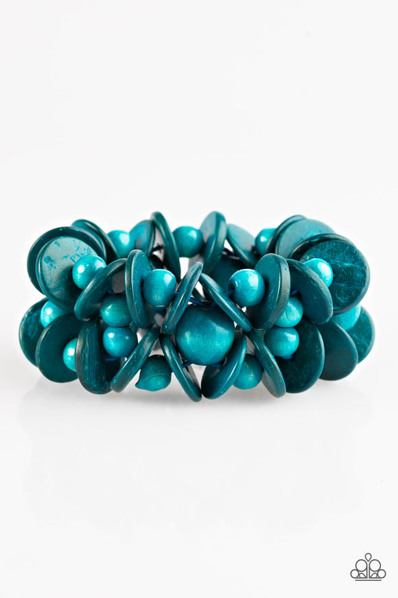 Tropical Temptress - Blue - Stretch Bracelet