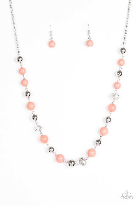 Weekend Getaway - Orange - Midlength Necklace