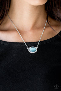 Anything Glows - Blue - Short Necklace