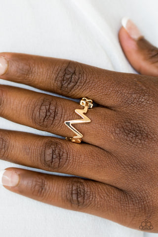 Check My Pulse -  Gold - Stretch Ring