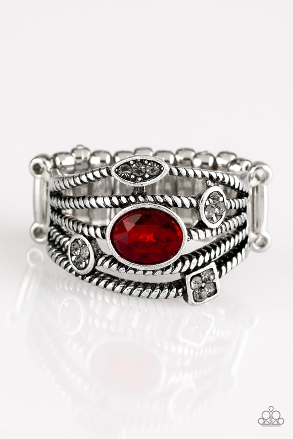 Cosmic Combo - Red - Stretch Ring