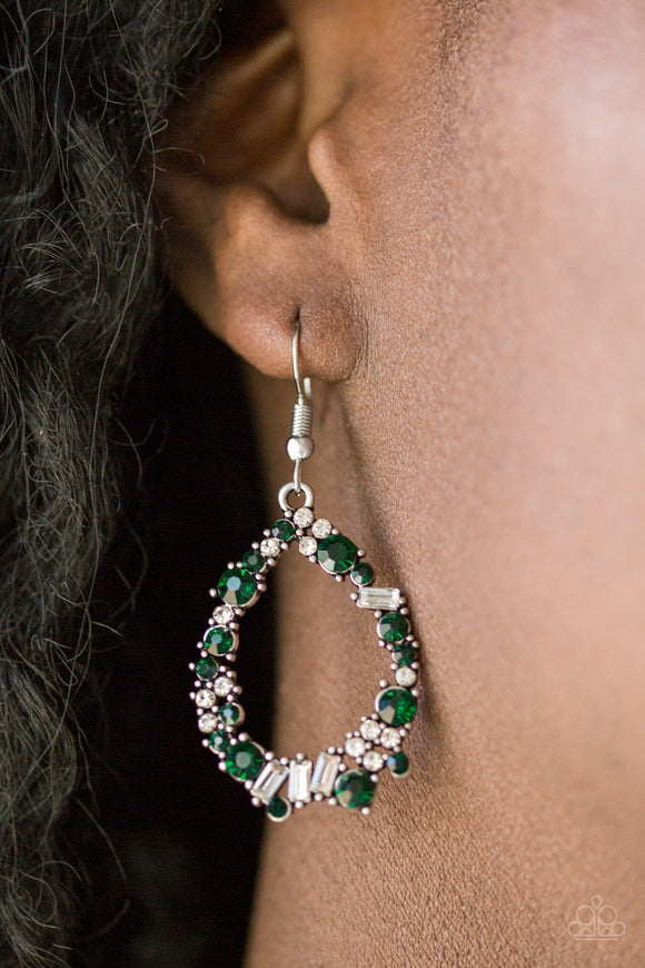 Crushing Couture - Green - Earrings