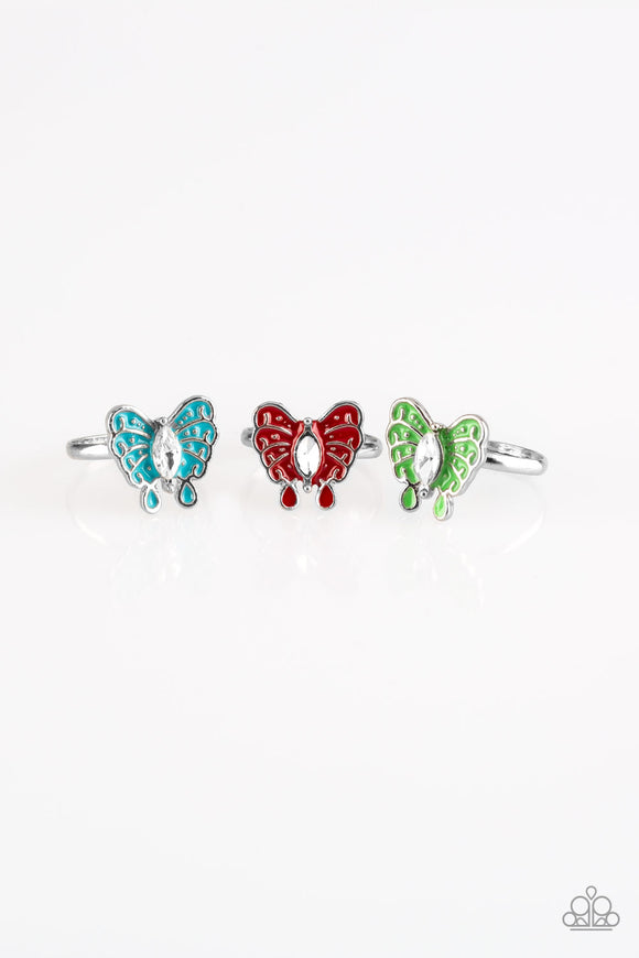 Starlet Shimmer RINGS - Butterfly - Multi Color - 5 for $5