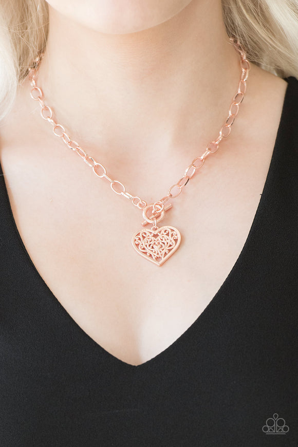 Victorian Romance - Rose Gold - Short Necklace