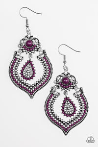 Congo Cadence - Purple - Earrings