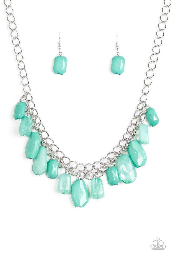 Glaciar Goddess - Short Necklace - Green