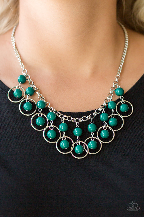 Really Rococo - Green - Short Necklace