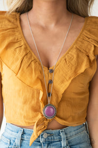 Run Out Of RODEO - Purple - Long Necklace