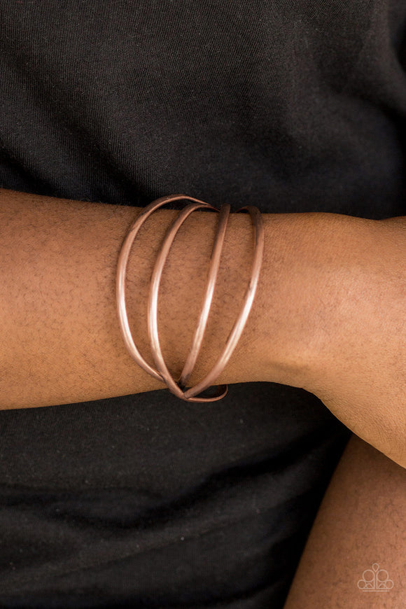 Take A CATWALK - Copper - Cuff Bracelet