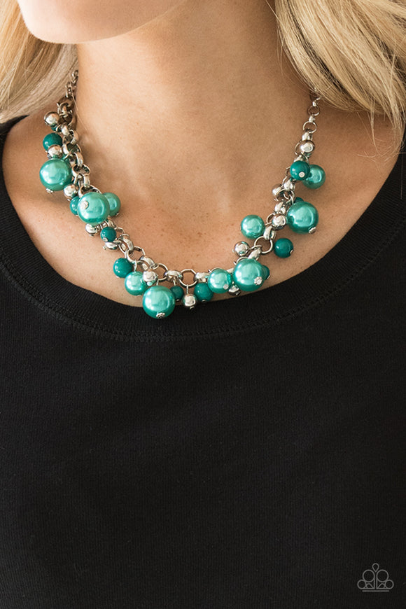 The Upstarter - Teal Green - Short Necklace