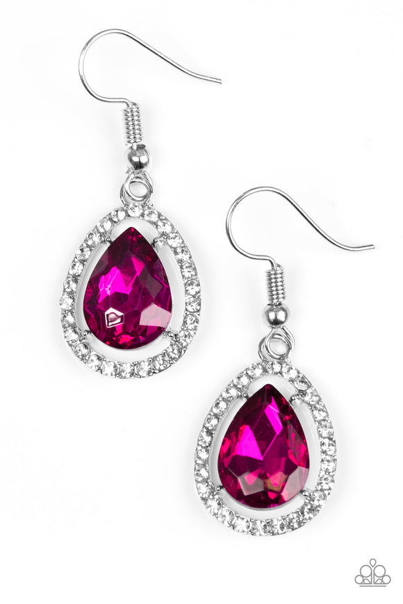 A One-GLAM Show - Hot Pink - Earrings