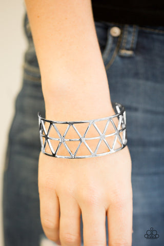 Knock Into Shape - Silver - Cuff Bracelet