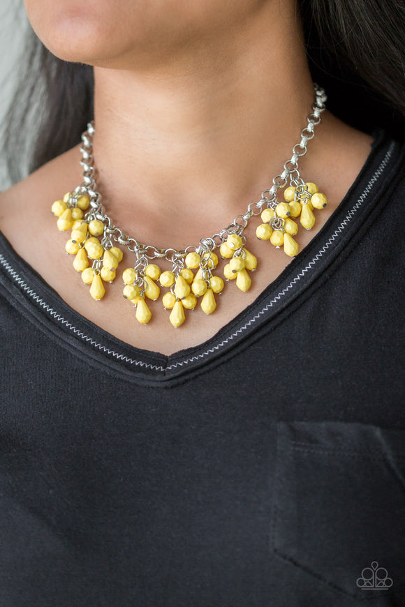 Modern Macarena - Yellow - Short Necklace