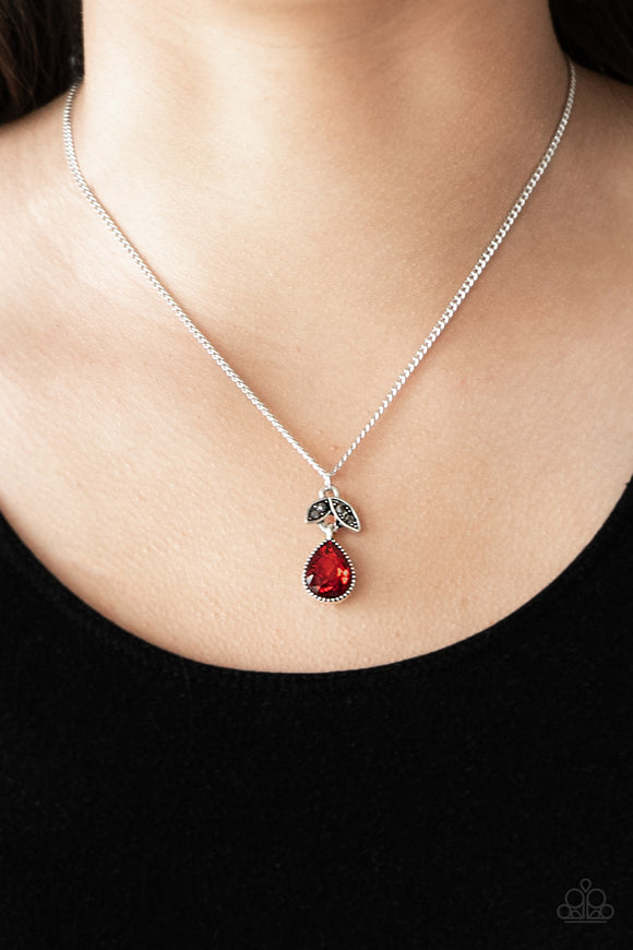 Nice To Meet You - Red - Short Necklace
