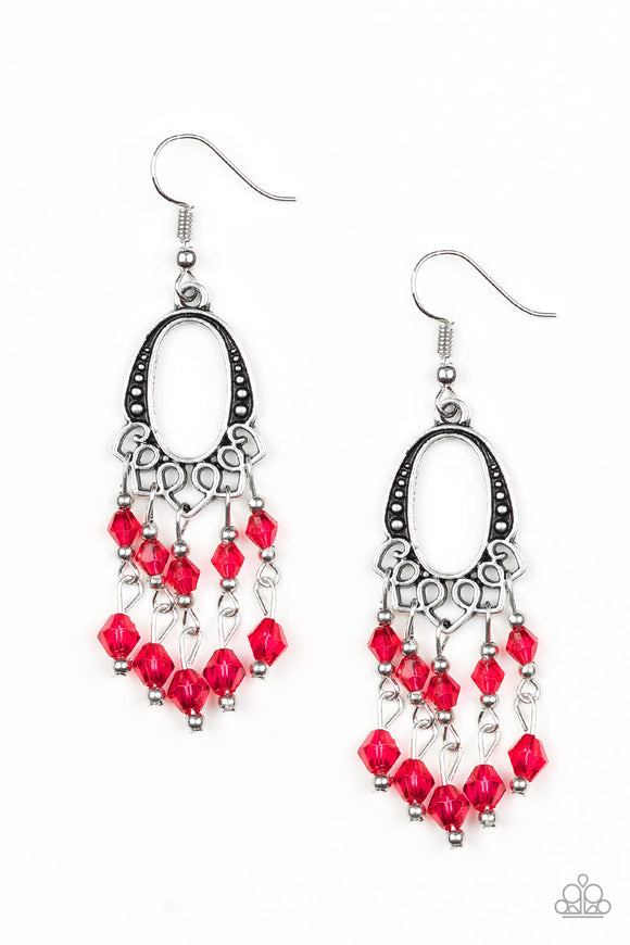 Not The Only Fish In The Sea - Red - Earrings