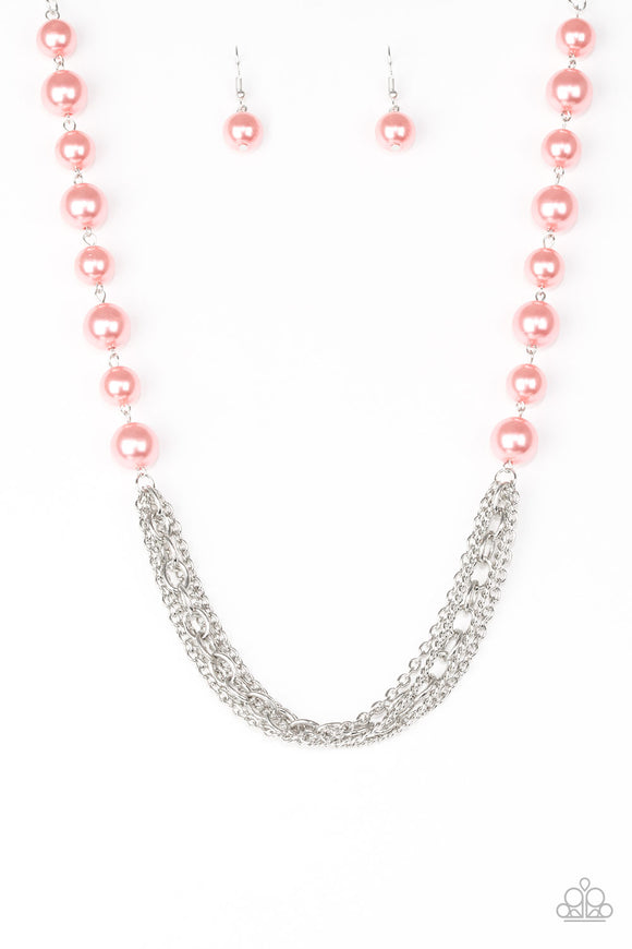 Runaway Bridesmaid - Coral - Short Necklace