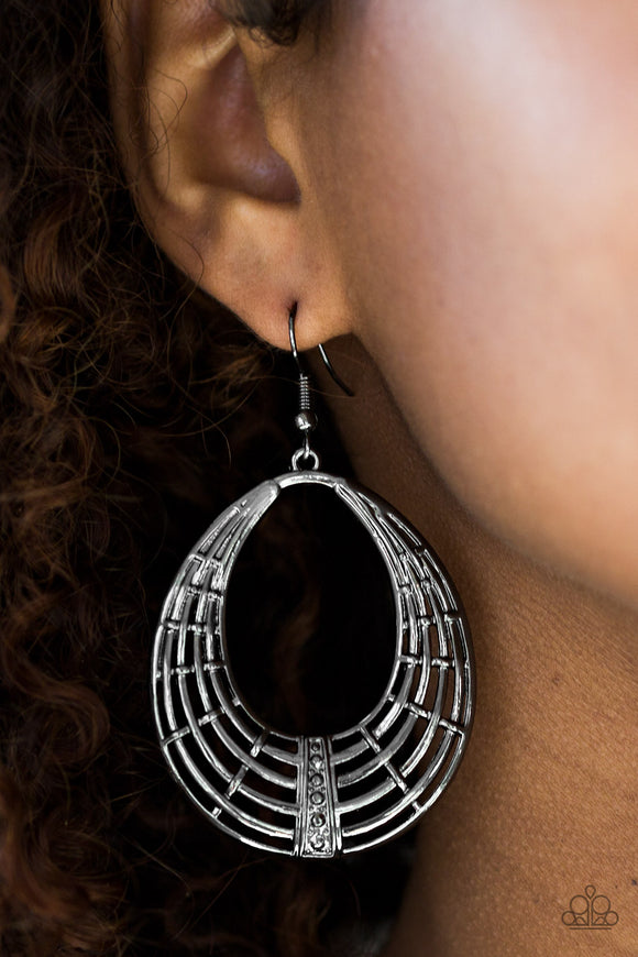 Tundra Texture - Black - Earrings