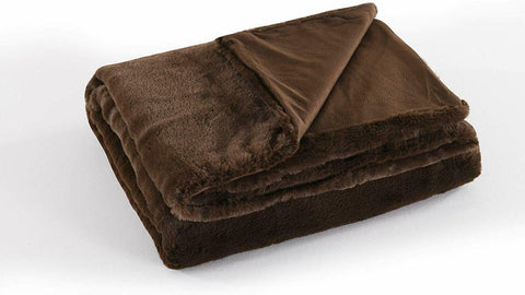 Faux Fur Throw Blanket Throw 50 by 60 inches