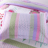 MarCielo 2/3 Piece Kids Bedspread Quilts Set Throw Blanket for Girls, A14 Quilt