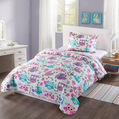 MarCielo 2/3 Piece Kids Bedspread Quilts Set Throw Blanket for Teens Boys Girls Bed Printed Bedding Coverlet Bunk Bedding Girls Comforter,  A32 quilt