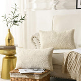 MarCielo 2 Pack Throw Pillow Cover Euro Sham Covers Lumbar Pillow Cover