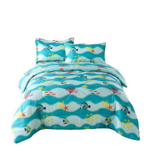 MarCielo 5/7 Pcs Kids Comforter Set Girls Comforter Set Kids Bedding Set Include Sheet Set Bunk Beds for Kids Twin/Full, 277 Comforter