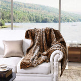 MarCielo Faux Fur Throw Blanket Leopard Cheetah Bed Blanket