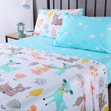 100% Cotton Sheets Kids Twin Sheets for Girls Teens Children Sheets Bed Sheets, XL1805 Sheet