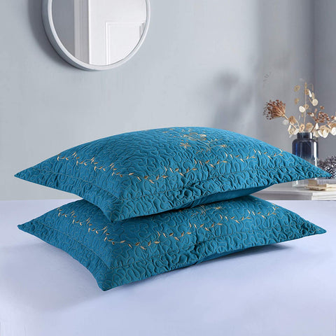 MarCielo 2 Pack Throw Pillow Covers Euro Sham Covers Pillow Shams Pillow Cover Embroidery