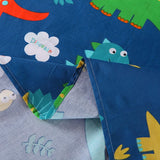 MarCielo 100% Cotton Sheets Kids Twin Sheets for Kids Girls Boys Teens Children Sheets Blue Dinosaur, KL1805 Sheet