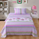 MarCielo Bed Sheets For Kids Twin Full Sheets For Kids Girls Boys Teens Children Sheets Purple Floral A14