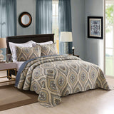 MarCielo 3 Piece Quilted Bedspread Quilt Set Lightweight Bedspread A16