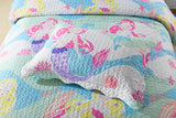 2/3Pcs Mermaid Kids Quilt Set Bedspread Coverlet Set A94