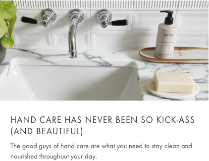 cleans hands