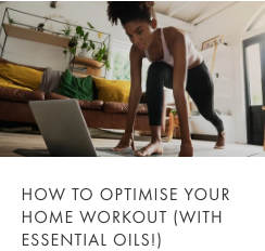 workout with essential oils