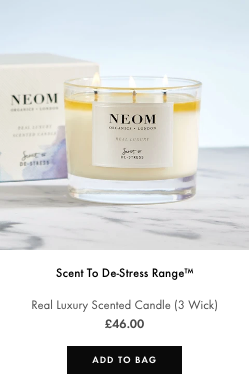 real luxury scented candle