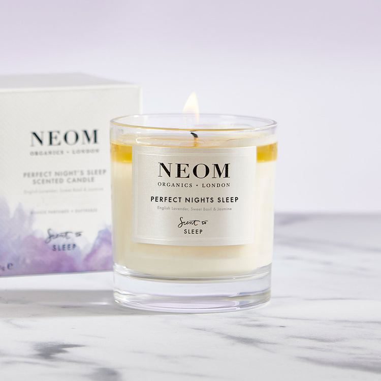 perfect night's sleep 1 wick candle marble