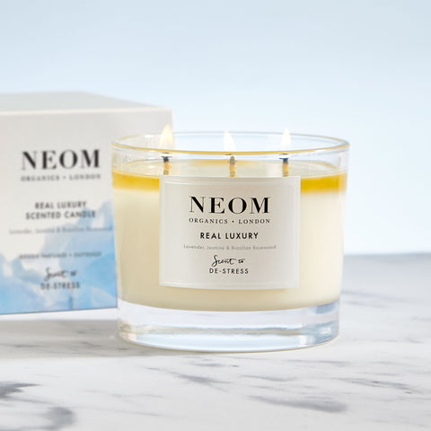 Real Luxury Scented Candle (3 Wick)