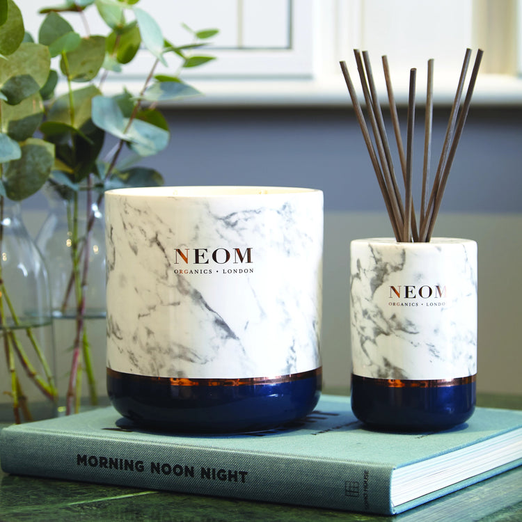 Real Luxury Scented Candle (4 Wick) and Reed Diffuser Set (200ml)