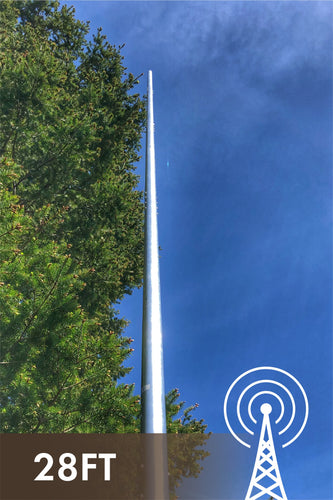 28' DX Vertical Antenna, No Radials + MFJ 998RT 1500W ATU for 160-6M