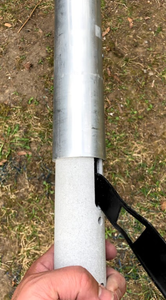 assembly, 20-foot, flagpole antenna, vertical antenna, ham radio, force 12, hoa vertical, greyline