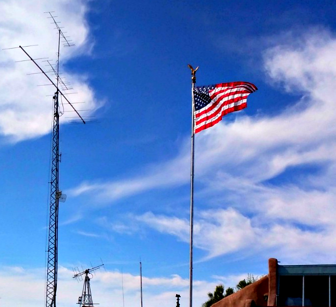 20-foot, flagpole antenna, hoa, stealth, vertical antenna, ham radio, force 12, greyline, w6nbc