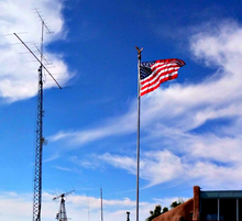 画像をギャラリービューアに読み込む, 28-foot, flagpole antenna, vertical antenna, ham radio, force 12, greyline customer