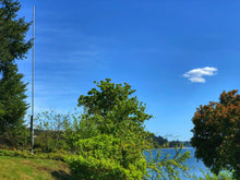 Load image into Gallery viewer, 20-foot, flagpole antenna, vertical antenna, ham radio, force 12, hoa vertical, greyline, customer