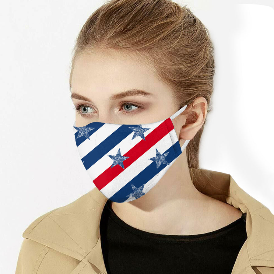 American flag cotton mask