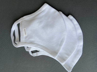 REUSABLE COTTON MASK (WHITE)