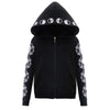 Blackmeoww Goth Women Moon Phase Witchcraft Print Hoodie Plus Size - Black S To 5XL