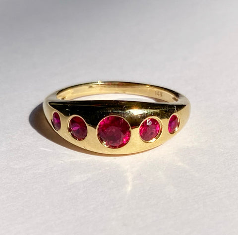 Five Stone Ruby Ring